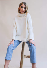 Callie Knit Jumper - Cream, Top - Pretty Lavish