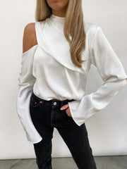 Jett Asymmetric Blouse - White