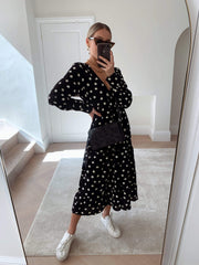 Dotty Day Dress - Black Polka Dot