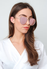 Aviator Sunglasses - Rose Gold, sunglasses - Pretty Lavish
