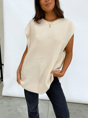 Frankie Sleeveless Jumper - Nude