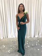 Keisha Maxi Dress - Matte Emerald Green