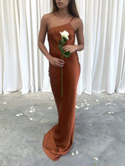 Amelia Maxi Dress - Matte Copper