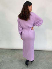 Beau Wrap Midi Dress - Lilac