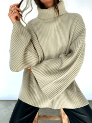 Lina Ribbed Jumper - Stone