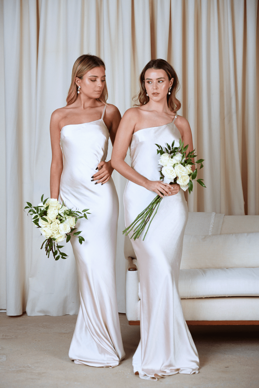 BRIDESMAIDS Amelia Maxi Dress - Matte Oyster, Dress - Pretty Lavish