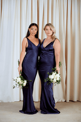 BRIDESMAIDS Piper Maxi Dress - Matte Navy, Dress - Pretty Lavish