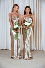 BRIDESMAIDS Keisha Maxi Dress - Liquid Olive, Dress - Pretty Lavish