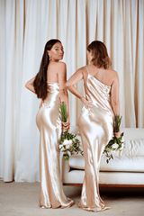 BRIDESMAIDS Amelia Maxi Dress - Liquid Gold, Dress - Pretty Lavish