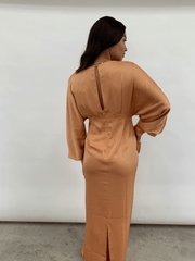 Alexis Batwing Maxi Dress - Orange