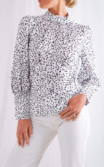 Dakota Backless Blouse - Polkadot, Top - Pretty Lavish