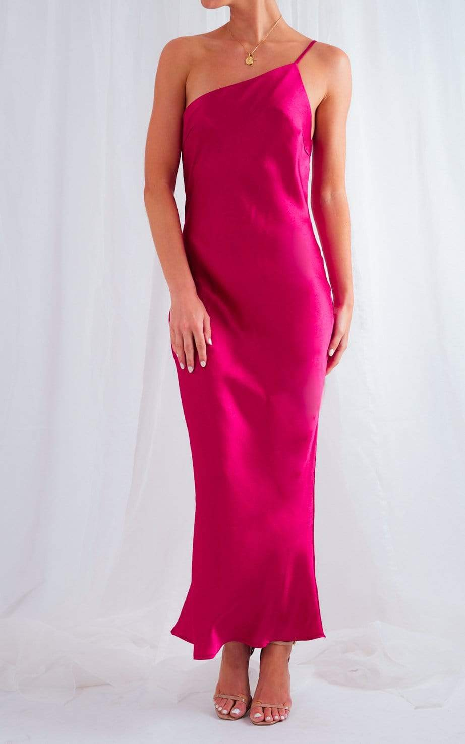 Amelia Slip Dress - Magenta, Dress - Pretty Lavish