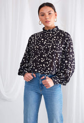 Ambre Blouse - Black, Top - Pretty Lavish
