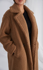 Teddy Coat - Brown, Coats & Jackets - Pretty Lavish