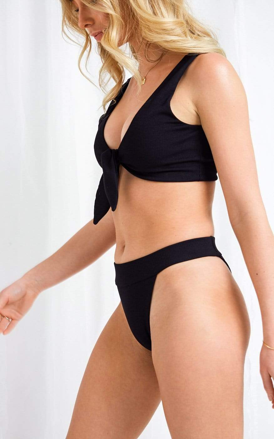 Riva Bikini Bottoms - Black, Swimwear - Pretty Lavish