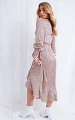 Louella Wrap Dress - Pink Polka Dot, Dress - Pretty Lavish