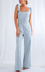 Corita Ruffle Maxi Jumpsuit - Blue, Jumpsuit - Pretty Lavish