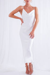 Keisha Slip Dress - White, Dress - Pretty Lavish