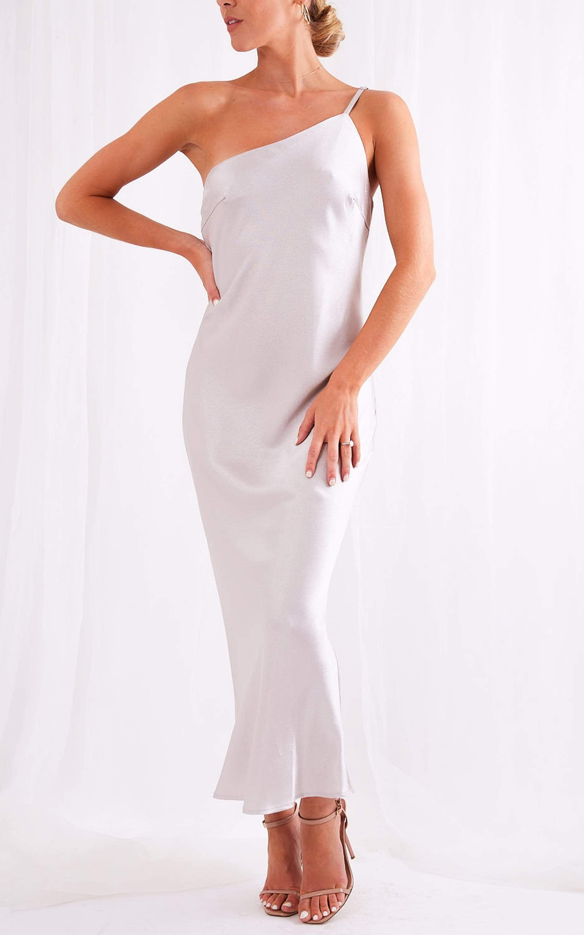 Amelia Slip Dress - Silver, Dress - Pretty Lavish