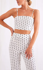 Lanie Tie Top - Polka Dot, Top - Pretty Lavish