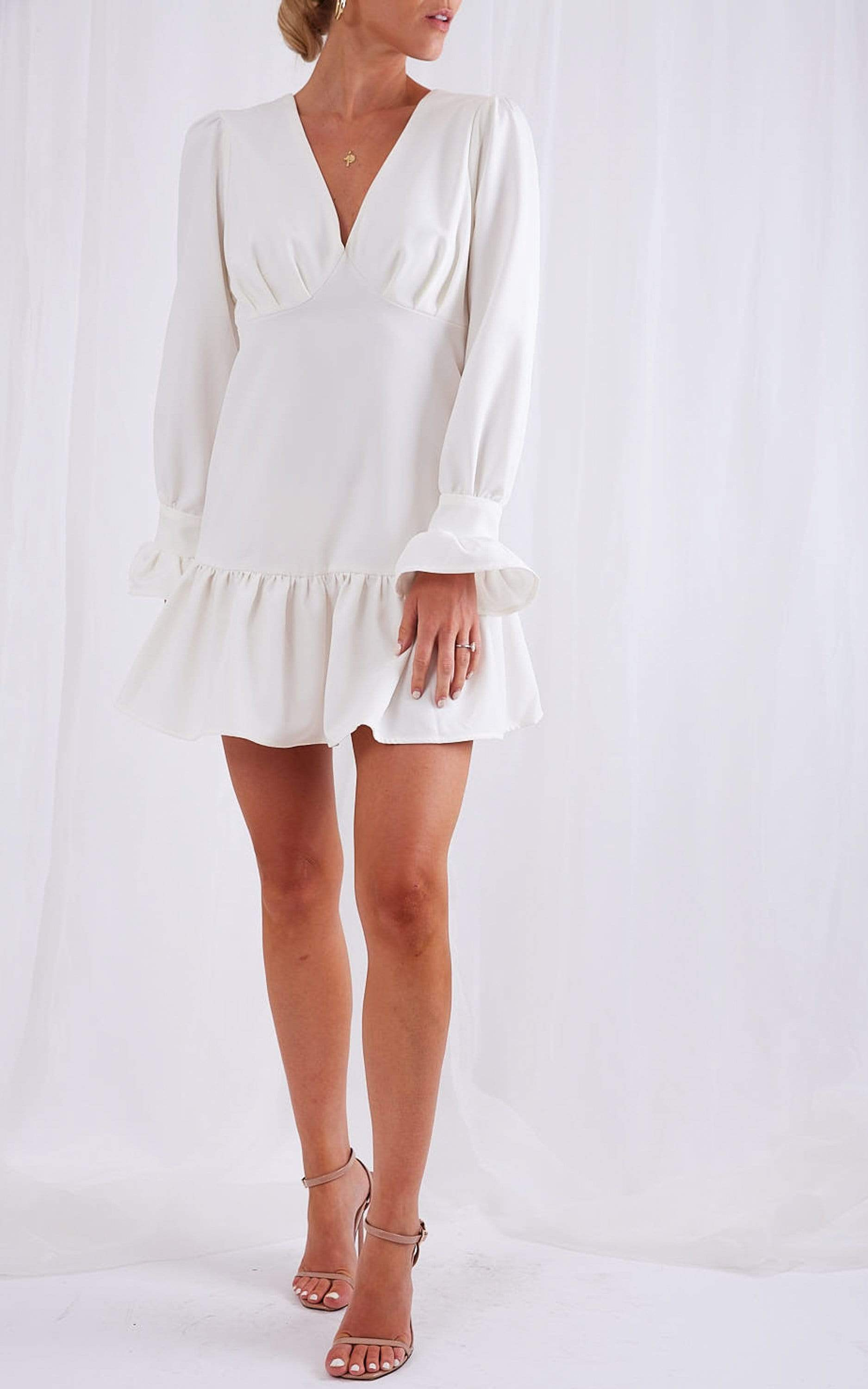 Pastelle Mini Dress - White, Dress - Pretty Lavish