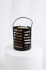 Xenia Cage Bucket Bag - Black