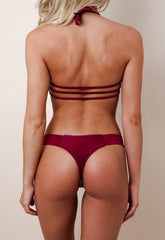 Strappy Brazilian Brief Bikini - Red