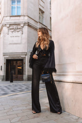 Bowie Straight Leg Trousers -Black