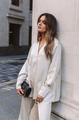Cheshire Oversized Blouse - Champagne