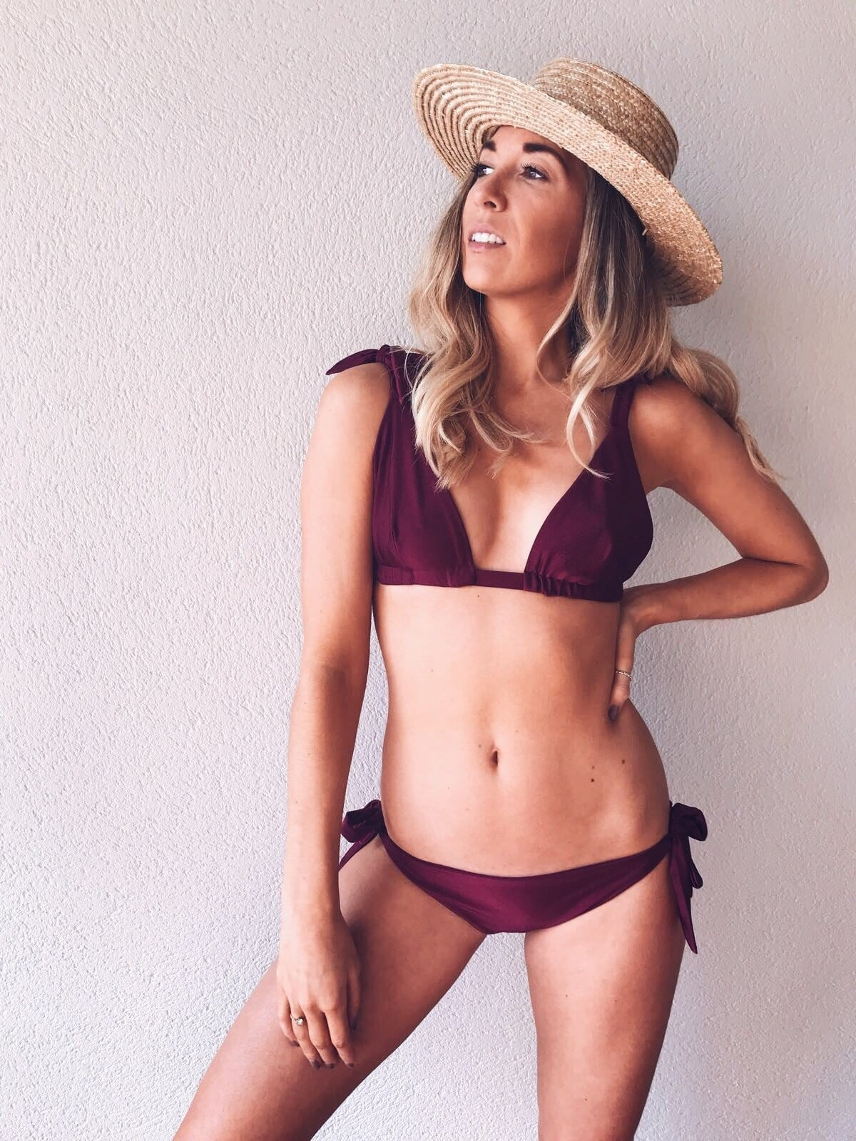 Freya Bikini - Wine, Swimwear - Pretty Lavish