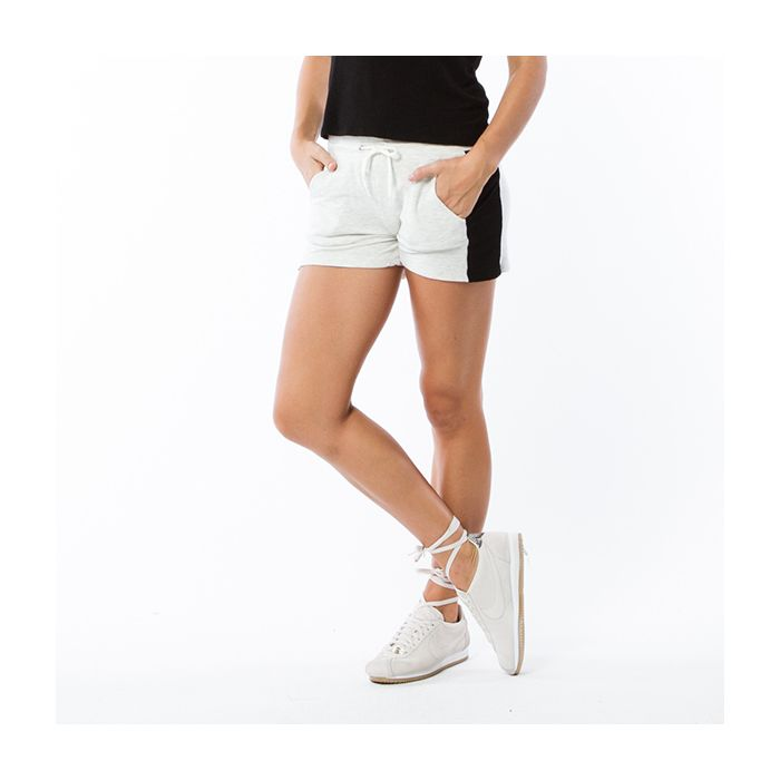 HB0356 - MONROW Color Block Elastic Waist Shorts