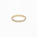 AD99, 14kt gold approx .30ct pave diamonds eternity band