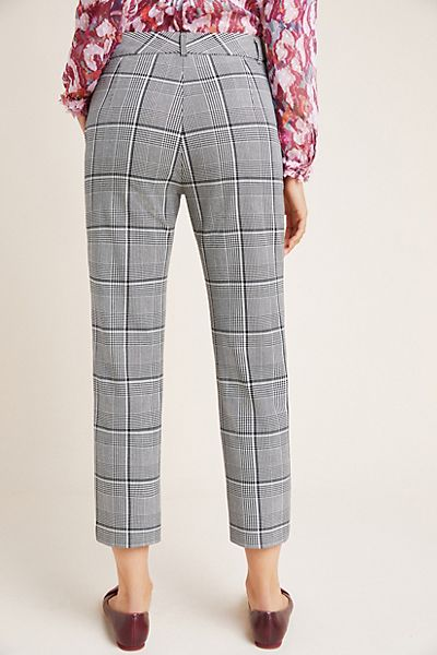 Abigail04 - Velvet Plaid Straight Leg