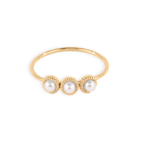 3 Pearl Ring