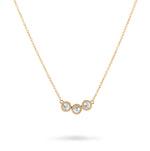 3 Pebble White Diamond Necklace