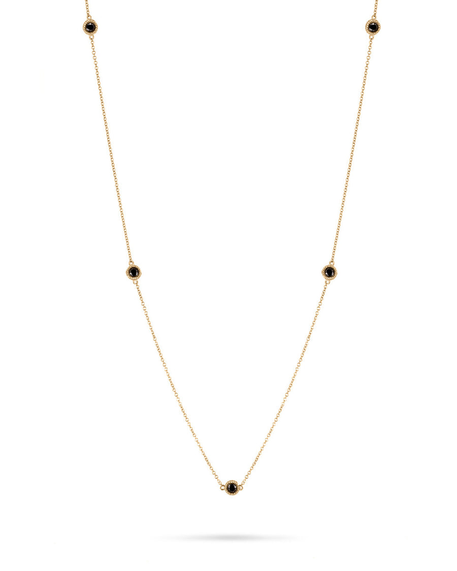 7 Pebble Black Diamond Chain