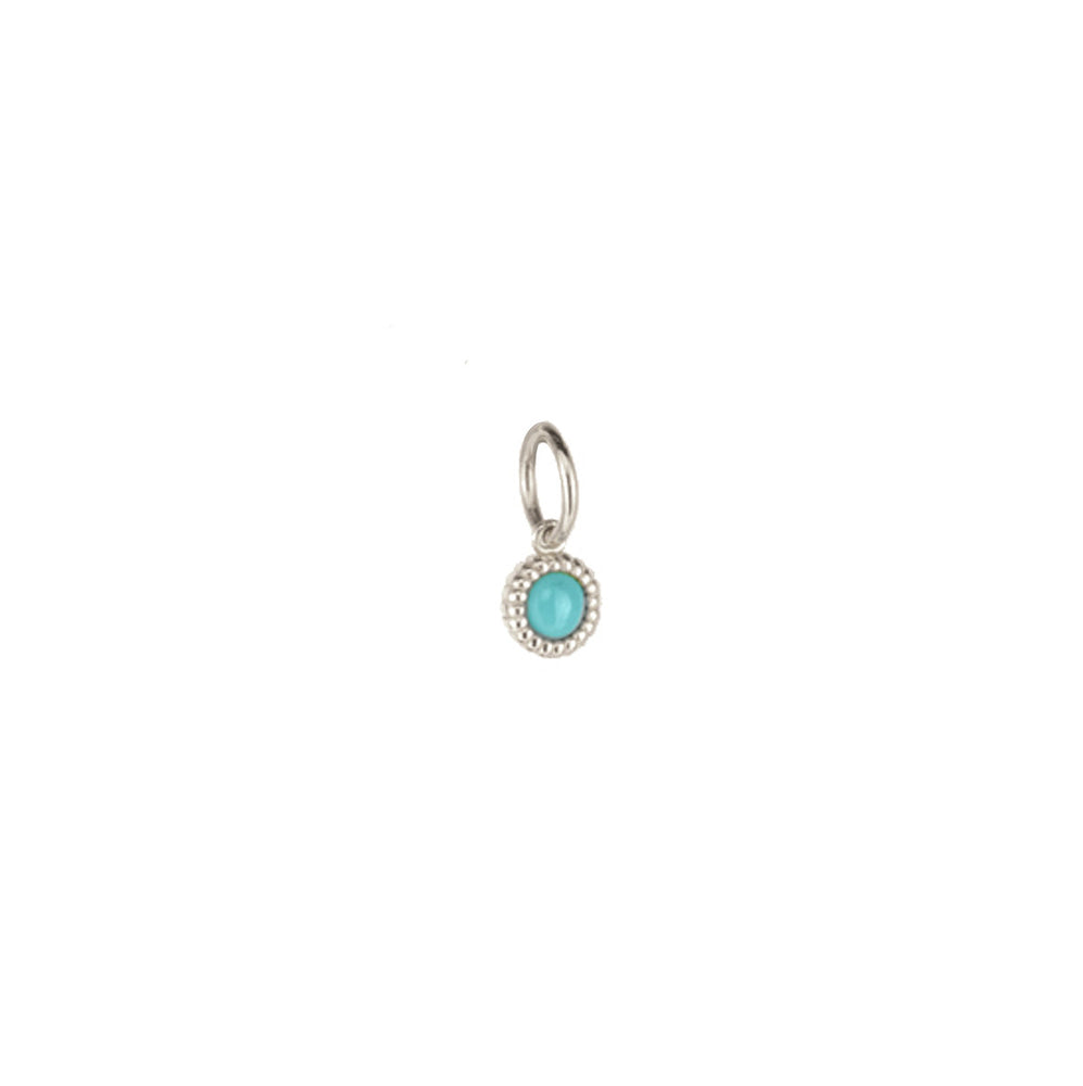 Sterling Turquoise Pebble
