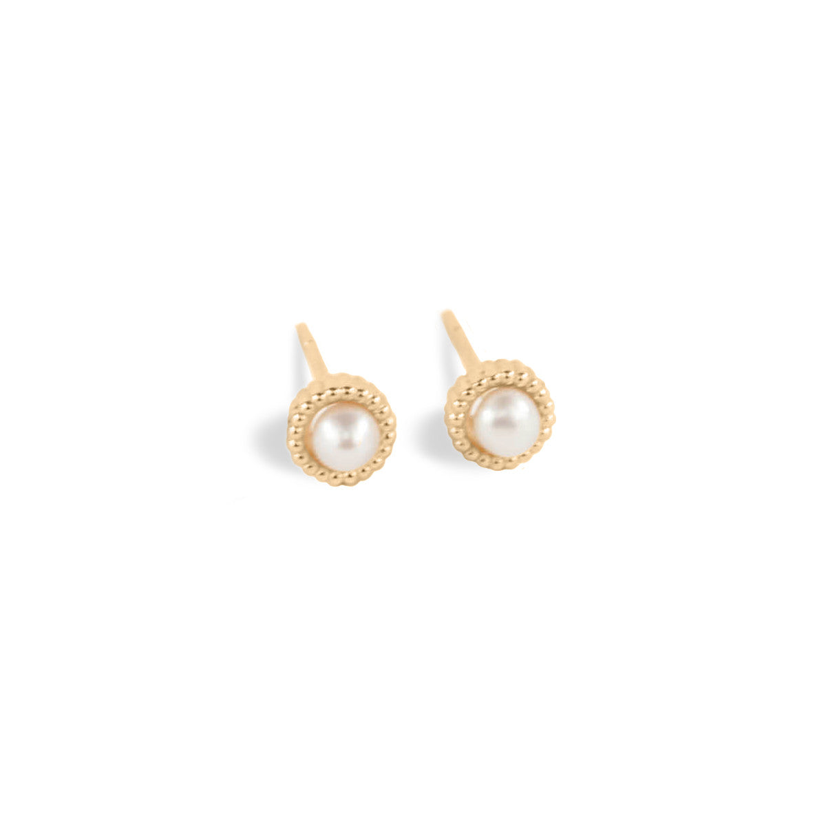 stud yellow gold single earrings dewdropyg catbird dewdrop pearl