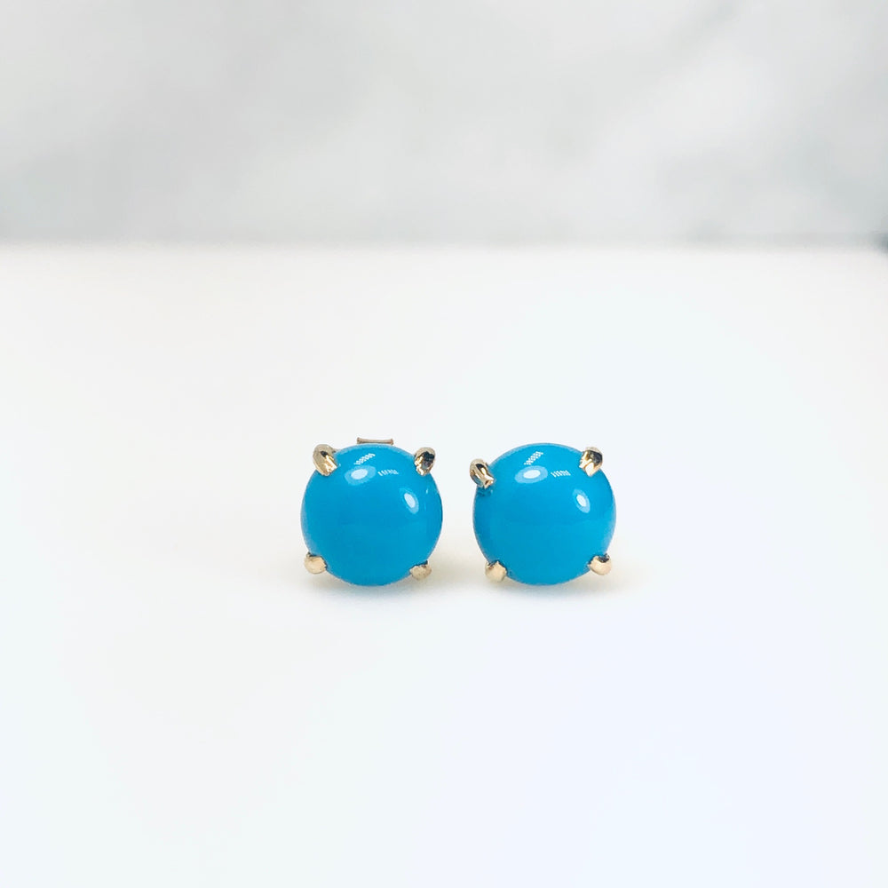 WD529 Cabochon Turquise Studs