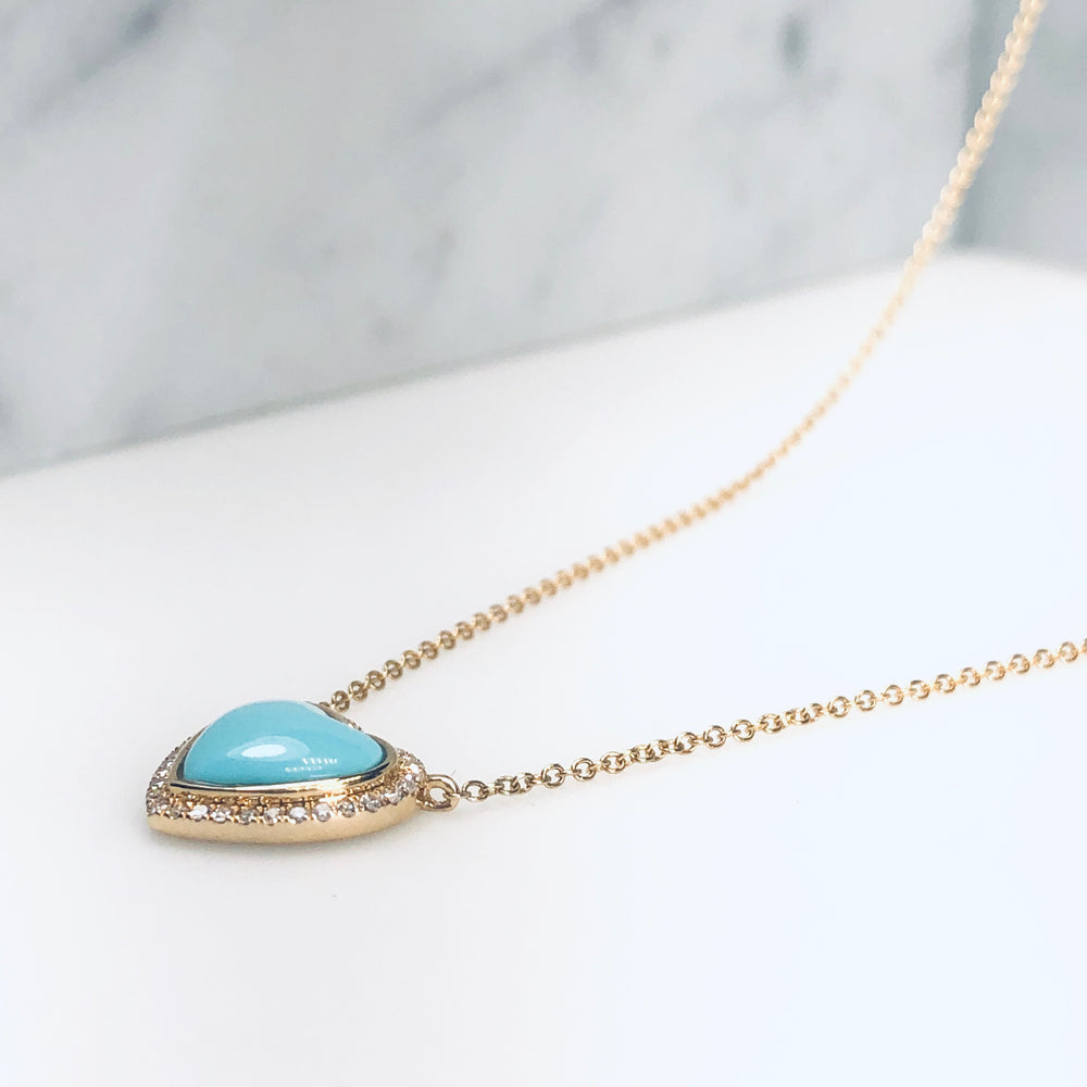 WD662 - Turquoise Heart Necklace