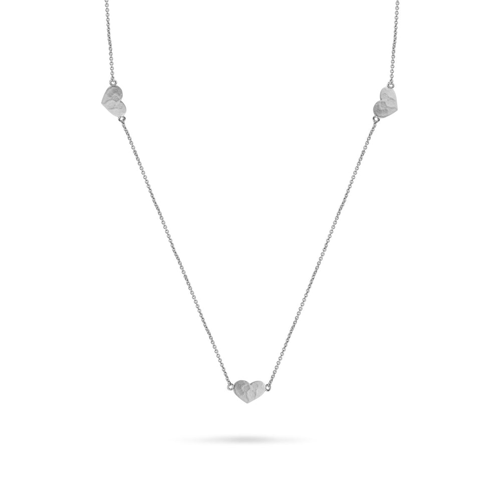 WD78-18 14kt 5 Heart Necklace