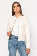 Lamarque Chapin Gold Foil Reversible Leather Jacket