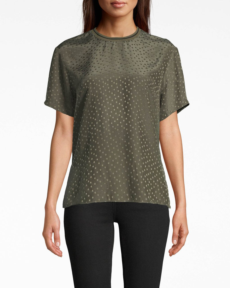 CT17938 Nicole Miller Polka Dot Top