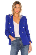 R20310 - Generation Love Double Breasted Crepe Blazer