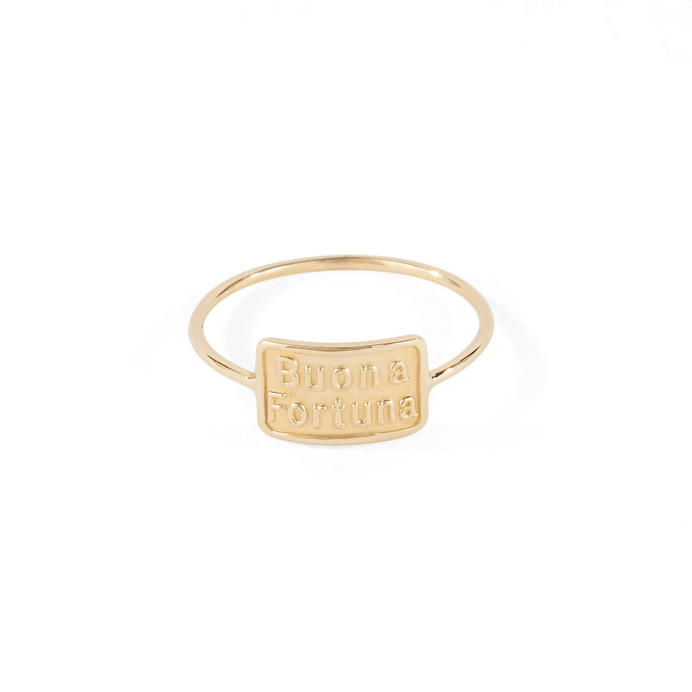 WD22, Buona Fortuna Ring, 14kt Gold