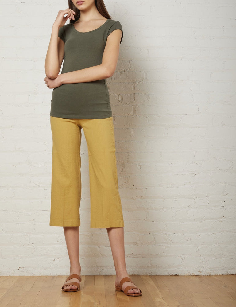 F1159 Avenue Montaigne Stretch Linen Pant