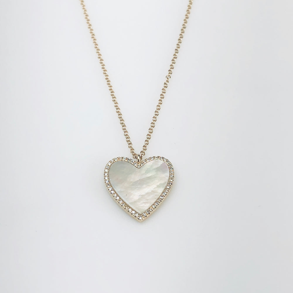 WD660 - Mother of Pearl Heart Necklace