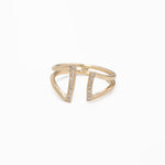 WD183 - Double Bar cuff Ring