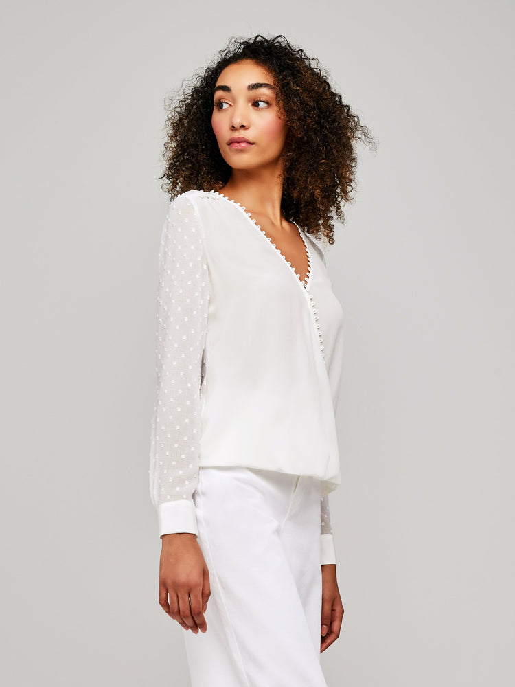 40075FPD L'AGENCE Perry Blouse