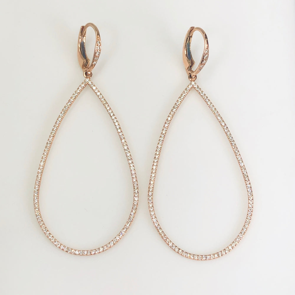 WD244 - Pave Pear shaped Earrings